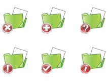 Folder. Set of web folder icons with different icons Royalty Free Stock Photo