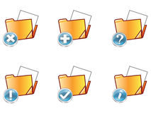 Folder. Set of web folder icons with different icons Royalty Free Stock Photos