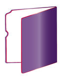 Folder. A purple folder in a white background Royalty Free Stock Photography