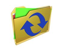 Folder. Illustration of a computer folder with papers Royalty Free Stock Photos