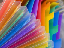 Folder. A  colorful  scholar folder (detail Royalty Free Stock Photos