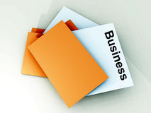 Folder 9. An image of a file folder with a sheet of paper coming out of it Stock Photography