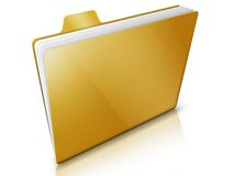 Folder. Of document on white bakcground Royalty Free Stock Photography