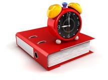 Folder and alarm clock. Image of folder and alarm clock Stock Photo