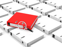 The folder analysis Stock Photography