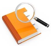 Folder analysis Royalty Free Stock Image