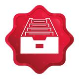 Folder archive cabinet icon misty rose red starburst sticker button vector illustration