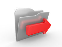 Folder and arrow Royalty Free Stock Images
