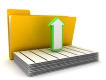 Folder and arrow Stock Photography