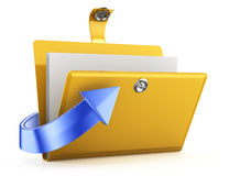 Folder and arrow Stock Image