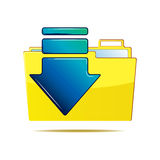 Folder and arrow icon Royalty Free Stock Photos