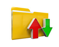 Folder with Arrows Royalty Free Stock Image