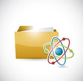 Folder and atom illustration design Royalty Free Stock Photography