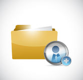 Folder and avatar illustration design Royalty Free Stock Photos