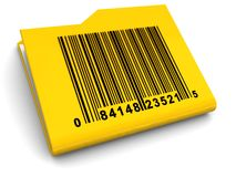 Folder with bar-code Stock Photo