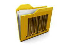 Folder with bar-code Royalty Free Stock Photos