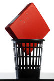 Folder in the basket Royalty Free Stock Photo