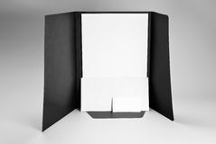 Folder, blank letterhead, envelope and business card Stock Images