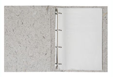 Folder with blank paper Royalty Free Stock Image