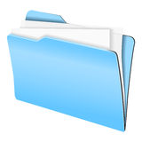 Folder in blue Stock Photography