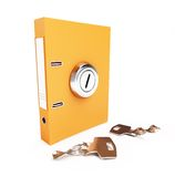 Folder broken key the keyhole Stock Photography