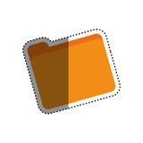 Folder business document. Icon  illustration graphic design Stock Photo