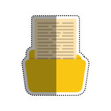Folder business document. Icon  illustration graphic design Stock Photography