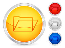 Folder button Royalty Free Stock Photography
