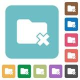 Folder cancel flat icons