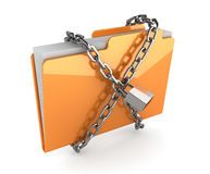 Folder with chain Stock Photos
