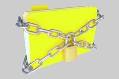 Folder in chains Stock Photo