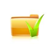 Folder Chekmark vector Stock Photos
