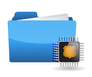 Folder and chip Royalty Free Stock Photos