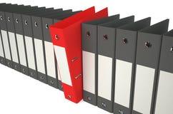 Folder chosen 3. Folder with documents on white background Royalty Free Stock Photos