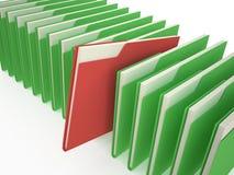 Folder chosen. Folder  with documents on white background Stock Photo