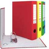 Folder closed, red, chrome, zoomed view Stock Photos