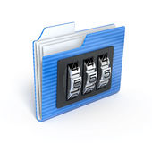 Folder with code. 3d render Stock Photo
