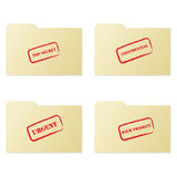 Folder collection 1 Royalty Free Stock Image