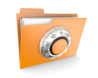 Folder with combination lock Stock Photo