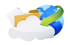Folder and communication information folder Royalty Free Stock Photo
