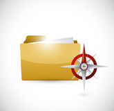 Folder and compass illustration design Royalty Free Stock Photos