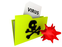 Folder - COMPUTER VIRUS Royalty Free Stock Photos