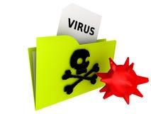 Folder - COMPUTER VIRUS royalty free stock photos