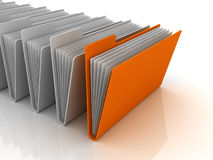 Folder Concept. This is a 3D rendered picture Royalty Free Stock Photography
