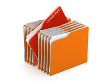 Folder concept - censored files - 3d rendering Stock Photography
