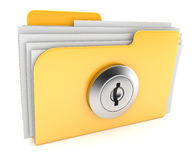Folder, concept of  saving files 3d. Folder, concept of saving files 3d isolated on white background Royalty Free Stock Photos