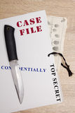 Folder with confidential files. A folder with confidential files at the police department Royalty Free Stock Image