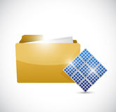 Folder and connection panels. illustration Royalty Free Stock Photography