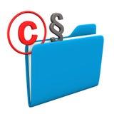 Folder Copyright Paragraph Stock Image