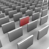 Folder. 3d  Stock Image